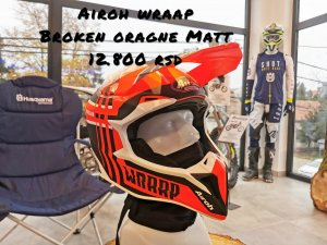 AIROH- Wraap broken orange MATT