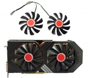 XFX RX 580 Ventilator fan 570 580 590 95mm NEMA NA STANJU