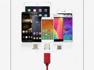 Magnetni Smart MagSafe kabl 3u1 - C-type / Android / iPhone