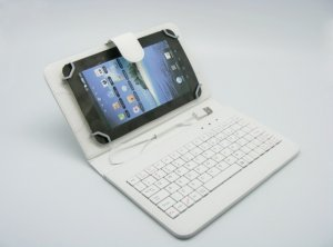 "Uni tablet case Teracell 7"" with keyboard and OTG cable crni"