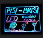 LED Reklamna tabla- piši/briši; open/close