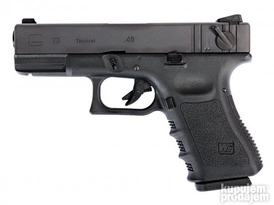 WE glock 23 Gen3, metal slide, GBB, black
