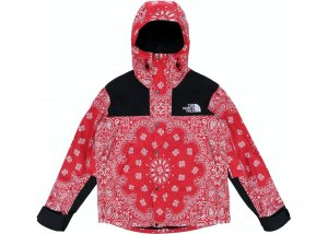 Supreme The North Face Bandana Mountain Jacket crvena NOVO