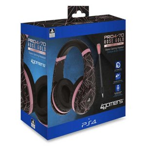 4Gamers Rose Gold Edition - Abstract Black - slušalice NOVO
