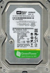 "WD 3.5"" 320GB WD3200AVVS AV-GP Green 5400RPM 8MB sata"