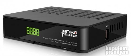 Amiko Impulse DVB-T2/C + USB dongle adapter