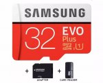 Samsung 32GB Micro SD Evo Plus + Mini Usb čitač i Adapter