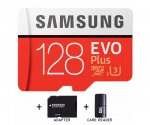 Samsung 128GB Micro SD Evo Plus + Mini Usb čitač i Adapter