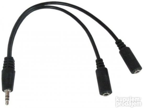 CCA-415-0.1M Gembird 3.5mm stereo plug to 2X3.5mm stereo soc
