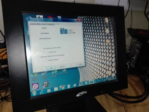 Touch screen monitor 15 elo touch