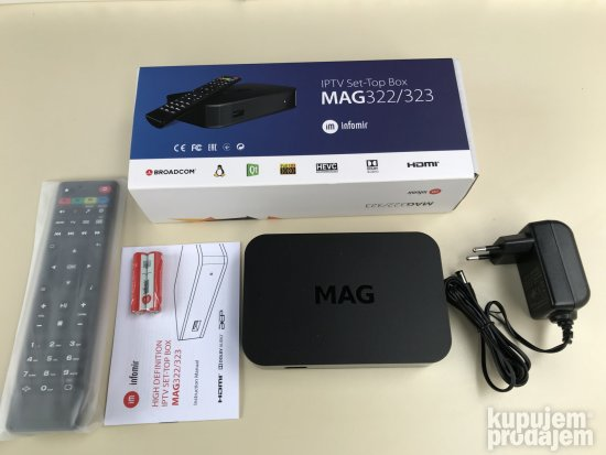 TV i Video : Na Stanju! Mag 322/323 IPTV box novi model 21 07 2019