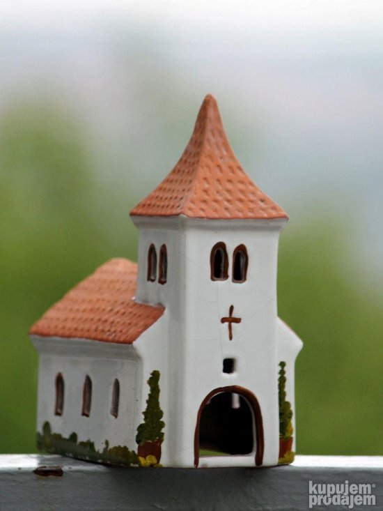 MINIATURE CHURCH vintage England Ceramic