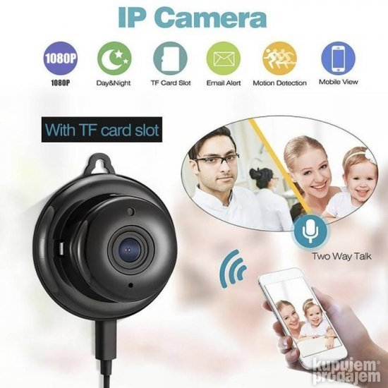 IP kamera MINI WIFI 1080P okrugla NOVO
