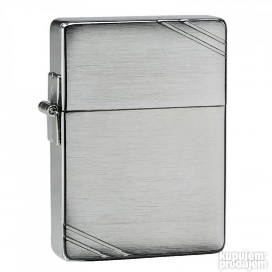 Zippo 1935 Brushed Chrome w/slashes