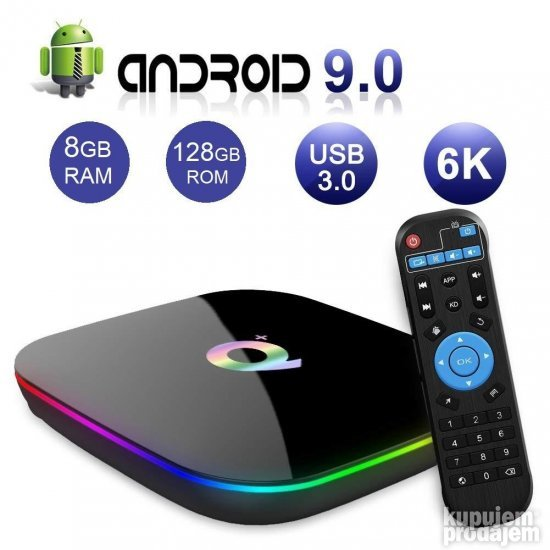 ANDROID BOX android 9 tv box SMART TV BOX 8/128gb Q+ plus