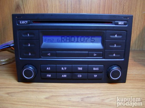 VW RCD 200 polo-golf 4 cd radio+prelaz euro dzek