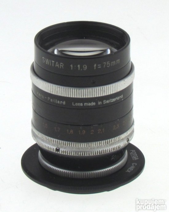 Kern Switar  1,9/75mm C-mount