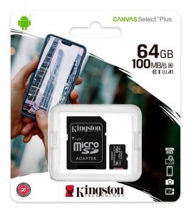 Micro SD kartica KINGSTON 64GB + adapter SDCS2/64GB Class 10