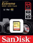 SanDisk - SECURE DIGITAL CARD 64GB SanDisk Extreme SDXC