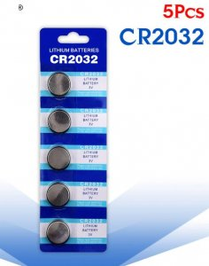 5pcs CR2032 Battery 3v