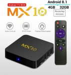 MX10 64bit 4K Android BOX ROCKCHIP Smart TV 4/32GB 8.1 OREO