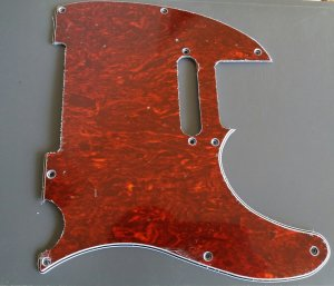 Telecaster Pickguard Red Perloid - 3ply