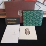 GOYARD Green Coated Canvas Victoire Bifold novcanik