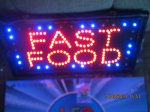 led svetleca reklama fast food