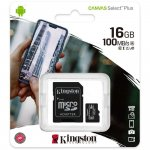 Micro SD kartica KINGSTON 16GB + adapter SDCS2/16GB Class 10