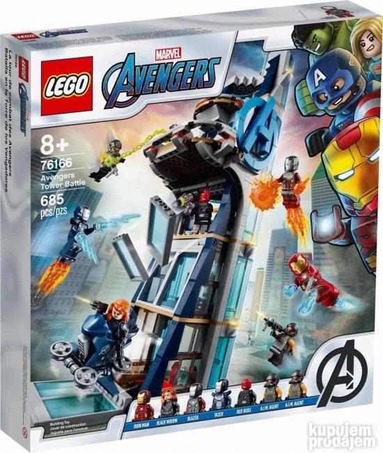 Lego Marvel Avengers Avengers Tower Battle 76166
