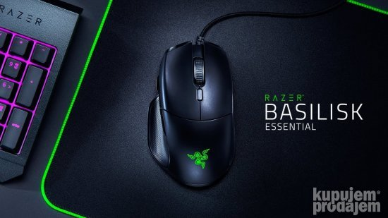 Razer Basilisk Essential Gaming miš - [6400 DPI optički senz