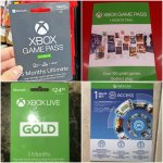 Xbox Ultimate/Game Pass/Live Gold/EA Acces/Gift Wallet Cards