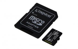 MICRO SD.128GB KINGSTON + SD adapter SDCS2/128gb