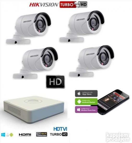 Hikvision komplet  4 kamere 2mpx FullHd-Lapovo