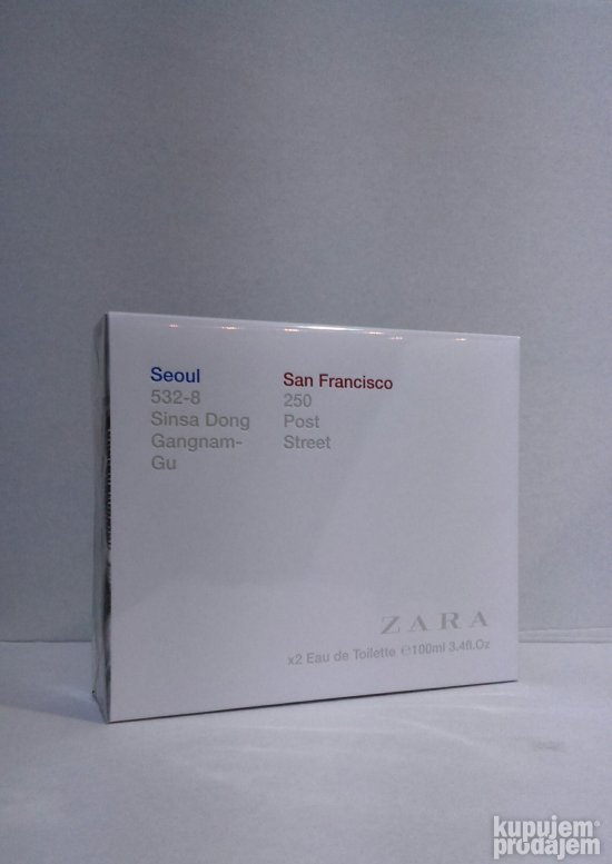 Zara Seoul edt100ml+San Francisco edt100ml