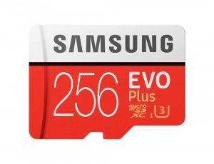 Samsung 256GB Micro SD Card SDXC EVO PLUS 100 mb/s 256GB