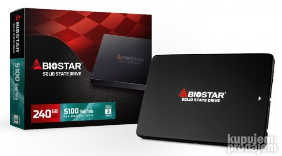 SSD Biostar 240GB S100 S100-240GB Read/Write: 530/410MB/s