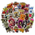 50 Pcs Horror Stickers for Laptop Motorcycle Car Styling