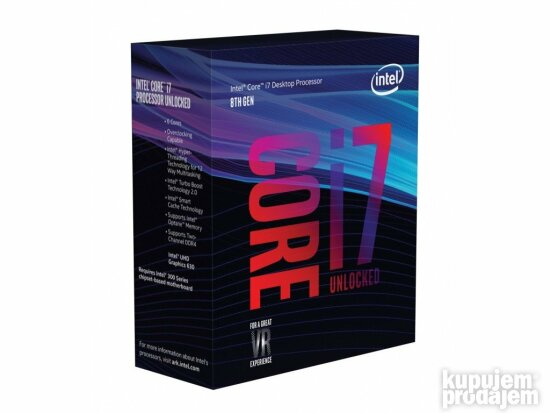 INTEL Core i7-8700 6-Core 3.2GHz (4.6GHz) Box