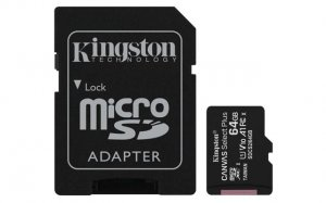 MICRO SD 64GB KINGSTON + SD adapter SDCS2/64gb