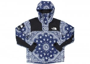 Supreme The North Face Bandana Mountain Jacket plava NOVO