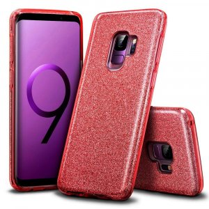 TPU Sparkly Shine za Galaxy J4  Plus 2018 ( Red )