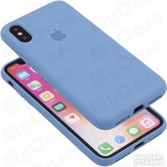 iPhone Xs Max Silikonska Maska - Denim Plava
