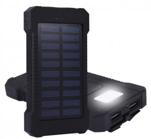 HRD-T12 Gembird solar power bank 12000mAh 2xUSB, LED